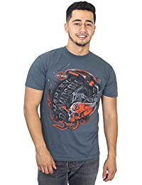 Harley-Davidson Mens Hourly Obsession Flaming Skull Charcoal Short Sleeve T-Shirt