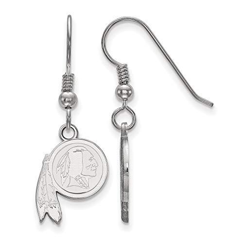 (NFL Sterling Silver Washington Redskins XS Dangle Earring Wire)