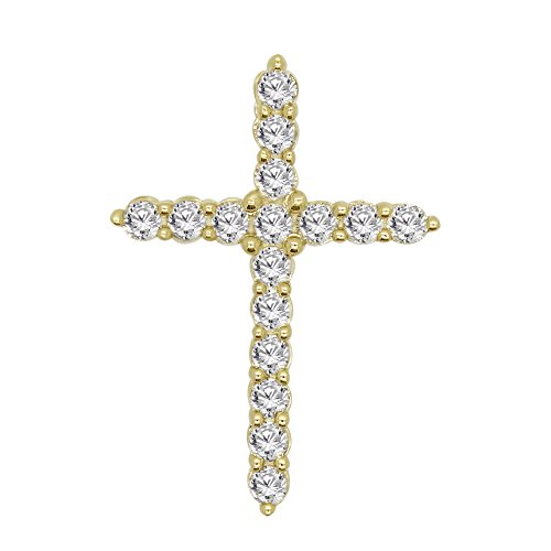 tural Diamond 10k Gold Cross Pendant (yellow-gold) (10k Yellow Cross Diamond Pendant)
