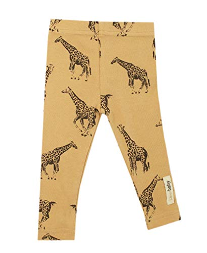 - L'ovedbaby L'bKIDS Organic Cotton Leggings Unisex Toddler - Kids 2T-5/6 (5/6, Honey Giraffe)