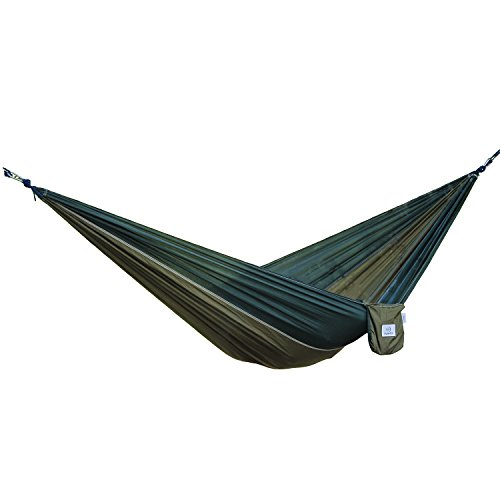 OuterEQ Portable Nylon Fabric Travel Camping Hammock Army/Olive by OuterEQ