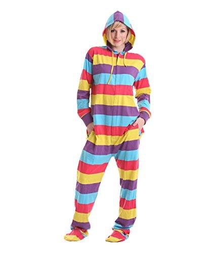 Funzee Grenouillère Adulte Avec Pieds Barboteuse Pyjama Onesie XS-XXL (Taille basée sur hauteur)