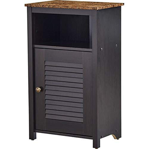 Wood Storage Cabinet with Faux-Granite Top - 28.8