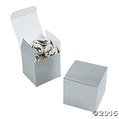 (2 DOZEN) - BULK (Silver Favor Boxes)
