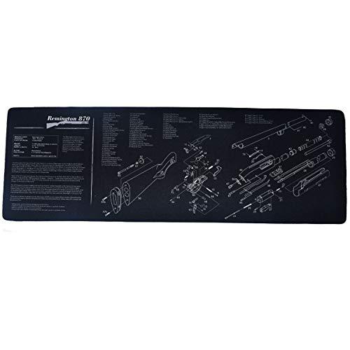 """N/D Gun Cleaning Mat 36 x 12.2"""" for Rifle Pistol Shotgun, Large Surface Thick Neoprene Gun Mat"""