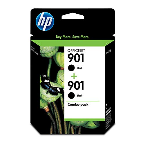 HP CZ075FN#140 901 Black Original Ink Cartridge (CC653AN), 2 Cartridges