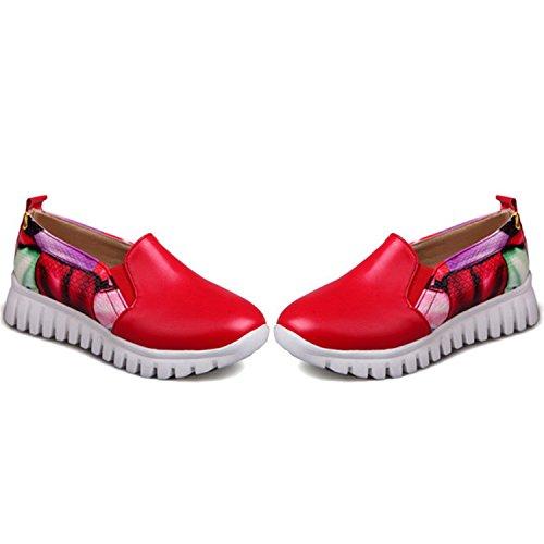 Shoes Shoes Red Fashion Big Quality Autumn Single Kenavinca Woman Size 46 34 Spring Comfortable Fashion Leisure qpxwYURv