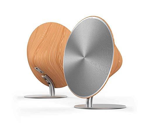 Zesion Bluetooth Speakers, High Power NFC-subwoofer, Portable Speakers, USB Mini Wireless Speakers, Touch Lautsprecher (Holz 4 Sie)