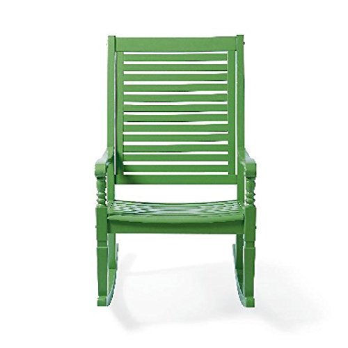 (Traditional Bayside Spring Green Hardwood Rocking Chair Porch Rocker Outdoor Patio Furniture)