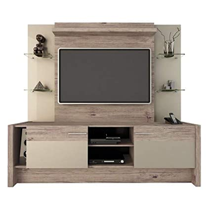 new product 539c8 ae8f8 Manhattan Comfort Morning Side Entertainment Center, Nature and Nude