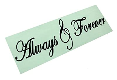 """ALWAYS & FOREVER Decal Wall Vinyl Bathroom Lettering Art quote sticker Large 30"""" (come with glowindark switchplate decal)"""