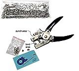 Steel Eyelet Punch & Binding Pliers 5mm + 260 Eyelets