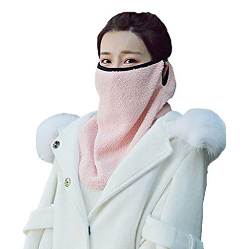 (Leories Winter Outdoor Windproof Half Face Mask Facemask Scarf Snowboard Snowmobile Snow Ski Sled Motorcycle Cycling Bike Hiking Skateboard & More Pink)