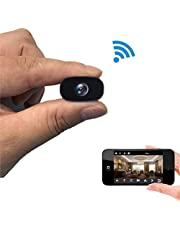 PNZEO W3(Practical Version) Mini Hidden Cameras 1080P HD Tiny IP Camera Video Recorder 140° Wide-View-Angle Wireless WiFi spy Camera Security Camera Remote View Motion Detection