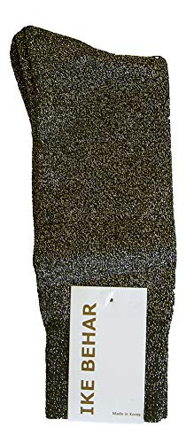 Ike Behar Men's Designer Glitter Dress Socks, Gold from Ike Behar