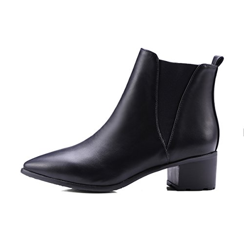 best Show Shine Women's Pointed Toe Mid Heel Martin Boots
