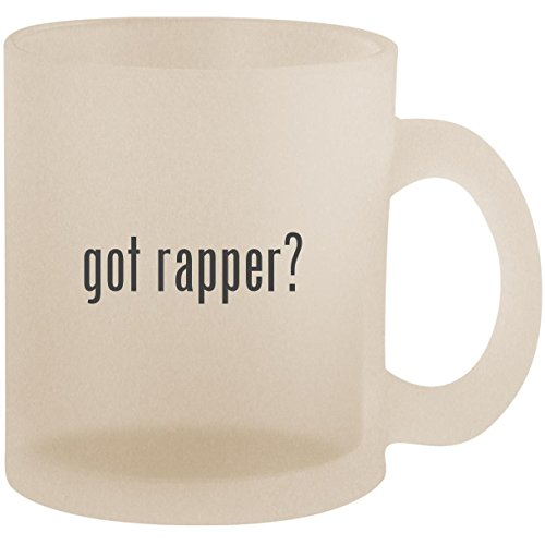 got rapper? - Frosted 10oz Glass Coffee Cup -