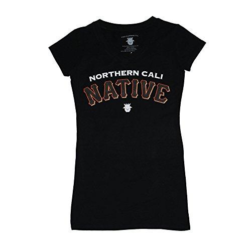 FNO Clothing Women's Nor Cal Native Baseball Tee - X-Large, Black