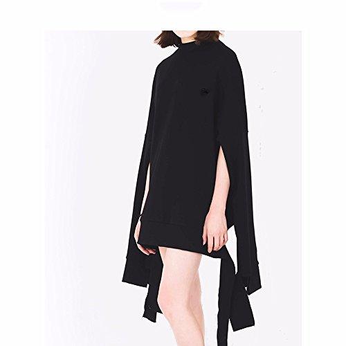 Giant Coat Dress Couples Female Xuanku Coat Neutral Sweater Black irregular Lazy Dress Sleeve UHq5UBX
