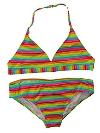 Amazon.com: OP Girls 2 PC Multi Neon Stripe Swimming Swim