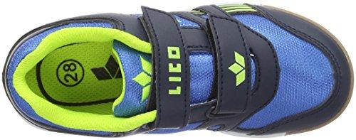 Lico Active Indoor Boy V, Zapatillas Deportivas para Interior para Niños Azul (BLAU/MARINE/LEMON LOT)