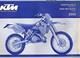 2000 KTM MOTORCYCLE CHASSIS 250/300/380 SX SPARE PARTS MANUAL P/N 3.204.81 (420)