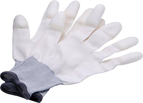 Rollei Lens Cleaning Gloves L - Anti Static Gloves for Cleaning Cameras, Lenses and Camera sensors, Optimal Grip, White