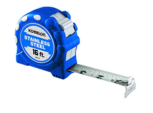 Komelon SS116SS Gripper 16-Foot Stainless Steel Measuring Tape (Corrosion Anti Coolant)