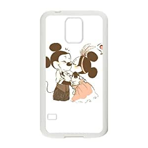 Samsung Galaxy S5 Cell Phone Case White Disney Mickey Mouse Minnie Mouse UI8316704
