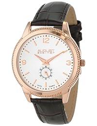August Steiner Men's AS8020RG Swiss Quartz Leather Strap Watch