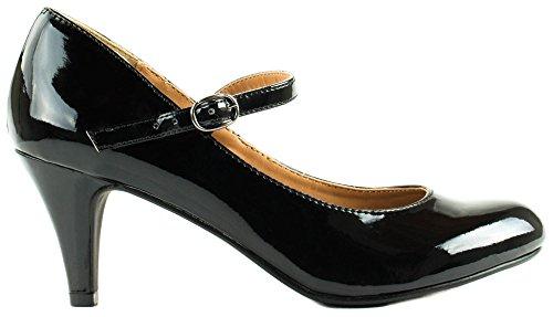 Geclassificeerde Schoenen Womens Kaylee-h Laklederen Pumps Met Hak En Zwarte Gesp
