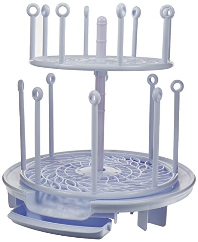 The First Years Spin Stack Drying Rack | Two Levels Save Space | Dry Bottles,...
