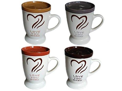 - Comfy Hour Love You More 16 Oz Ceramic Mug Set with Lids