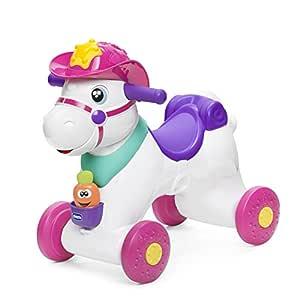 Chicco-00007907100000 Caballito cabalgable, Multicolor ...
