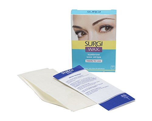 Wax Shapers Surgi Brow (Surgi-Wax Brow Shapers For Brows, 28 Strips)