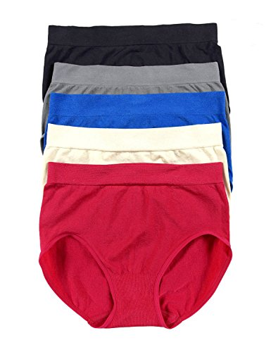 Carole Hochman Women's  Seamless Brief - Small - Red (Pack of 5) (Carole Hochman 3 Piece)