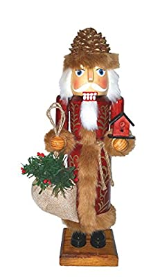 "Santa's Workshop 70908 Pine Cone Santa Nutcracker, 14"" ,,"