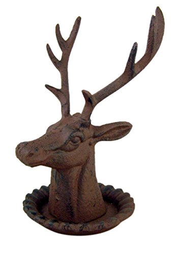 Elk Jewelry Stand, Cast Iron, 7 1/2 Inch
