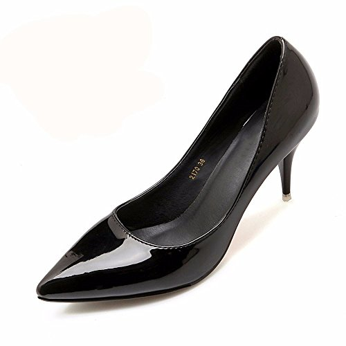 Black La Hxvu56546 El Mujer Y Otoño Trabajo Durante Elegante Solo Zapatos Tacones De Atractivo Primavera Nuevo Altos R4aq1nxR
