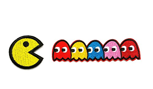 Pac-man ghosts Blinky Pinky Inky Clyde Embroidered Iron On/Sew On -