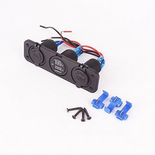 Iztoss 12v marine Cigarette USB Port voltage current socket and power socket for car SUV, Rv, Caravan by IZTOSS