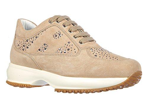 Hogan chaussures baskets sneakers filles en daim neuves interactive explosion be