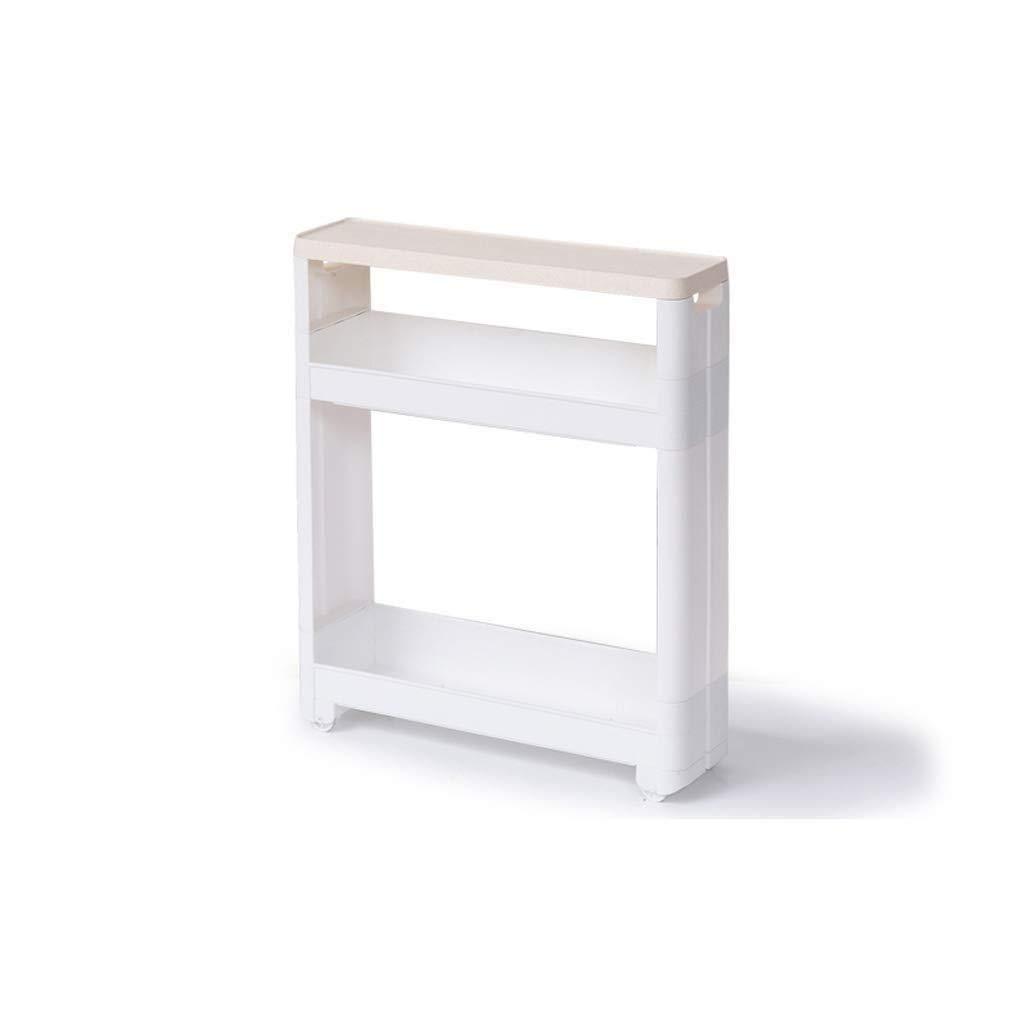RDMZ Bathroom Shelf Floor Bathroom Storage Cabinet Clip Storage Toilet Toilet Gap Toilet Side Cabinet Side Cabinet (Size : Two Layers)