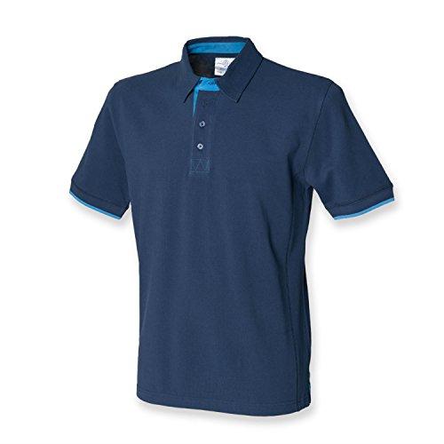 Kontrast Pikee Polo Shirt,Navy Marine, Gr.XL