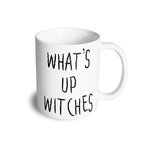 Novelty Halloween Tea Cup Mug What's Up Witches