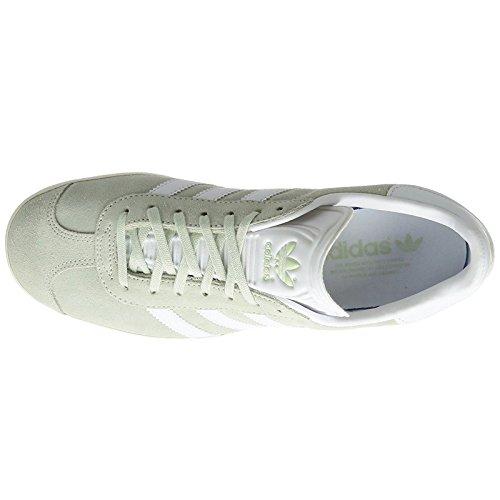Adidas Heren Gazelle Toevallige Tennisschoenen Linnen Groene Schoenen Wit