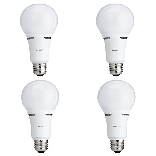 Philips LED Dimmable A21 Soft White Light Bulb with Warm Glow Effect 1600-Lumen, 2700-2200-Kelvin, 16-Watt (100-Watt Equivalent), E26 Base, Frosted, 4-Pack