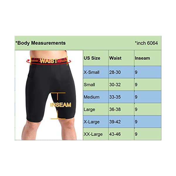 Fashion Shopping Neleus Men's 3 Pack Compression Short with Pocket