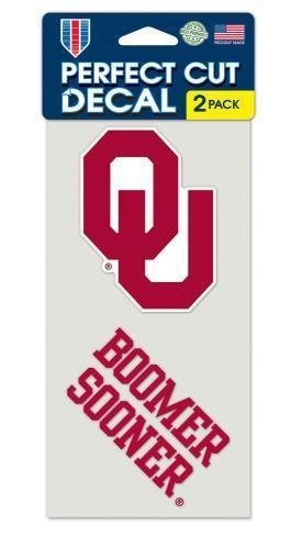 Oklahoma Window - Oklahoma Sooners Set of 2 Die Cut Decals