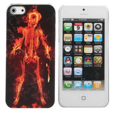 New Halloween Burning Skull Man Pattern Protective Back Case For iPhone 5